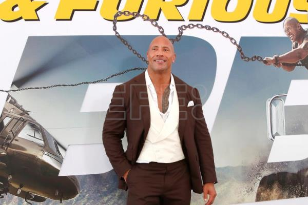 The Rock, Jason Statham, Idris Elba attend Fast and Furious premiere
