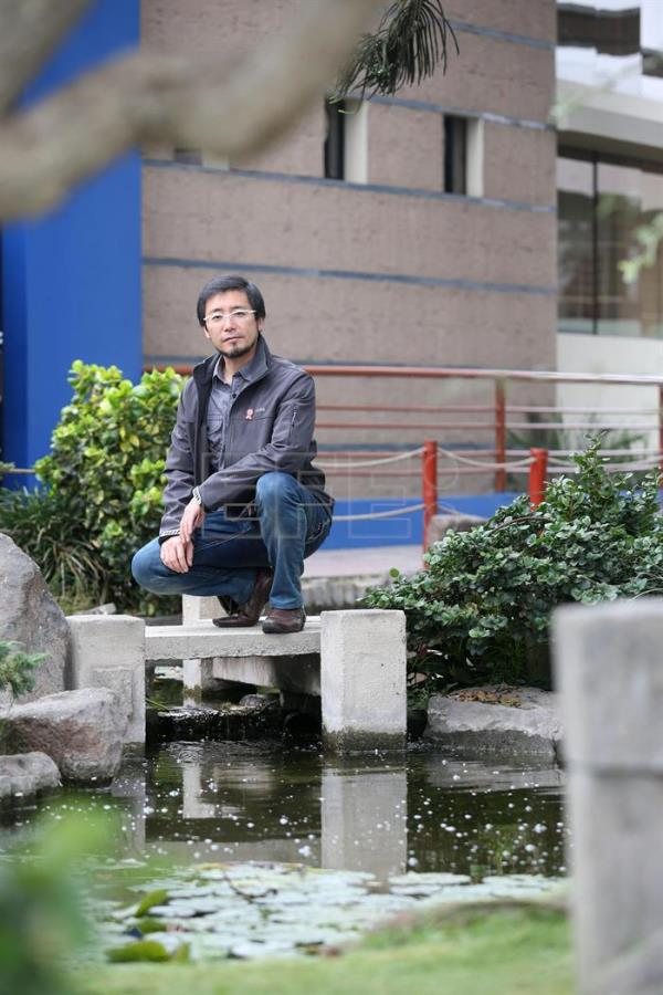 Peruvian scientist Marino Morikawa poses at the Japanese Garden, a sports club in Lima, Peru, 6 July 2016. EFE/Ernesto Arias
