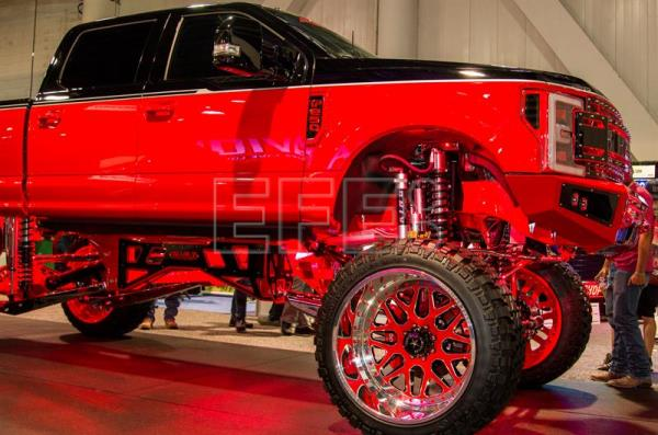 A Ford F 250 Pick Up Truck On Display At The Sema Show In