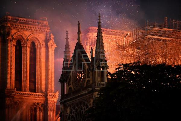 Notre-Dame heavily damaged by fire, but building appears to have been saved