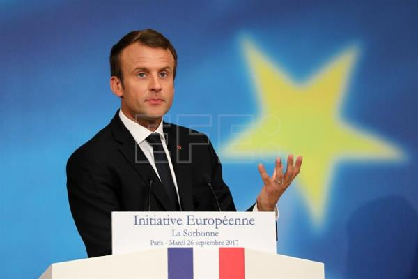 Macron proposes creation of EU military intervention force