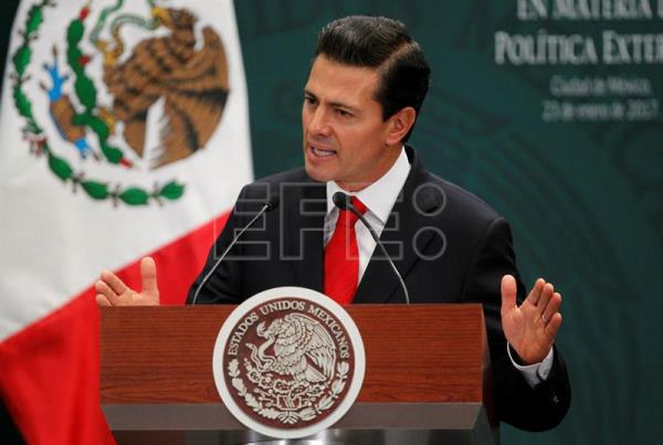 Mexican President Enrique Peña Nieto speaking during an event held at Los Pinos presidential residence in Mexico City, Mexico on Jan. 23, 2017. EFE/Mario Guzman