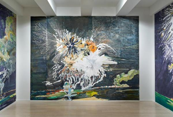 Spaniard's Japanese firework art illuminates New York gallery
