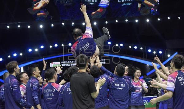 China pummel Japan in final of Sudirman Cup badminton tourney