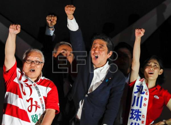 Abe tipped for majority as half of Japan Senate seats up for grabs