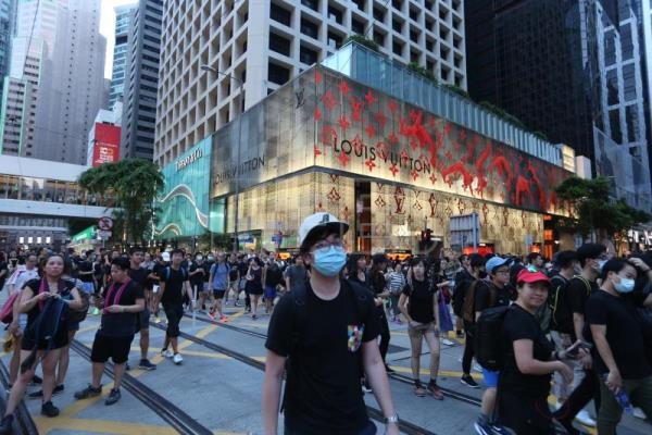 Anti-extradition bill protesters rally in Hong Kong