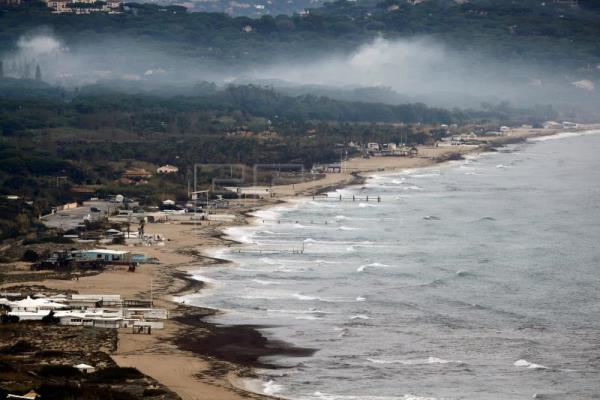 Oil Washes Up On Saint Tropez Beaches In France After Ship Collision