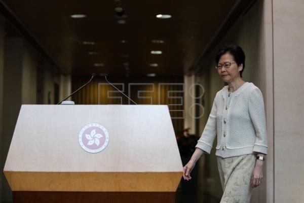 Hong Kong Chief Executive Carrie Lam holds press conference in Hong Kong