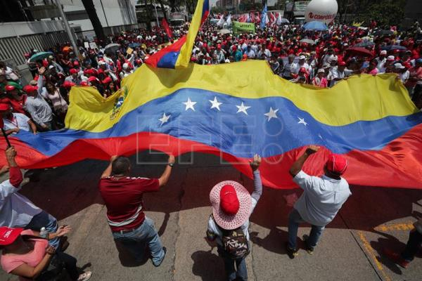 Chavistas march in Caracas to condemn attack on electric system