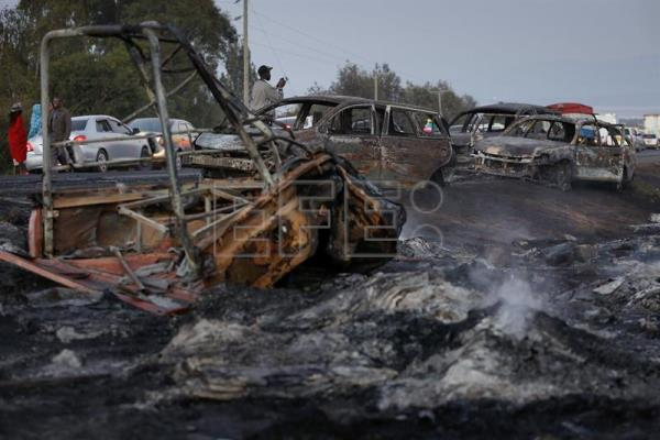 At least 40 people killed in oil tanker explosion in Kenya