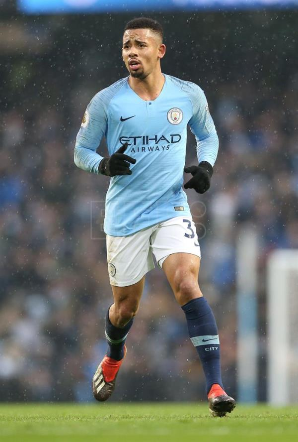 NVR001. Manchester (United Kingdom), 15/12/2018.- Manchester City's Gabriel Jesus during the English Premier League soccer match between Manchester City and Everton at the Etihad Stadium in Manchester, Britain, 15 December 2018. EFE/EPA/NIGEL RODDIS EDITORIAL USE ONLY. No use with unauthorised audio, video, data, fixture lists, club/league logos 'live' services. Online in-match use limited to 75 images, no video emulation. No use in betting, games or single club/league/player publications.