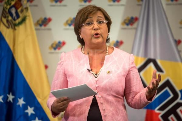 An undated file photograph showing Venezuelan National Electoral Council (CNE) chief Tibisay Lucena. EFE
