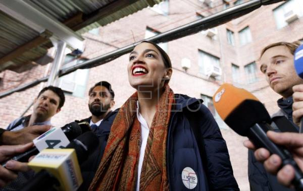 Ocasio-Cortez becomes the youngest woman elected to Congress in US history
