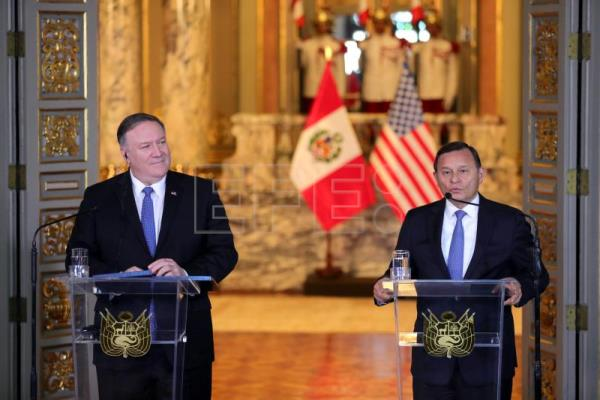 Pompeo praises 'generous' Peru for taking in 700,000 Venezuelans
