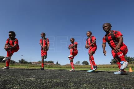 Kenya's dwarf soccer team dreams of going pro, inspiring new sides