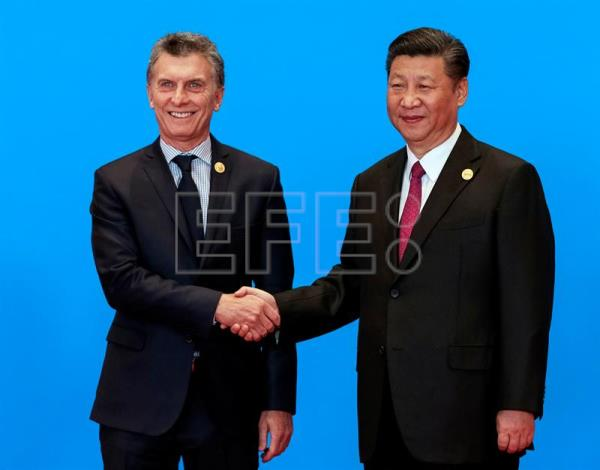 (FILE) Chinese President Xi Jinping (R) shakes hands with President of Argentina Mauricio Macri during the welcome ceremony for the Belt and Road Forum, at the International Conference Center in Yanqi Lake, north of Beijing, China, 15 May 2017. EPA/ROMAN PILIPEY
