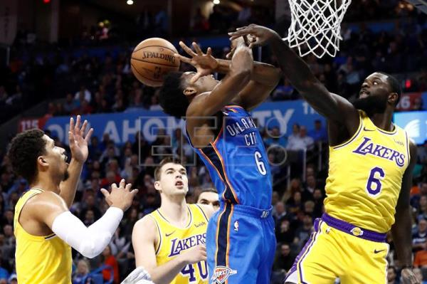 128-138.Los Lakers con Kuzma, Zubac y Ball superan a los Thunder de Westbrook