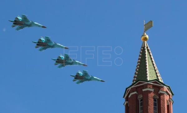 Russian Su-34 bombers fly over Red Square during the Victory Day parade in Moscow, Russia, May 9, 2018. EPA-EFE FILE/YURI KOCHETKOV