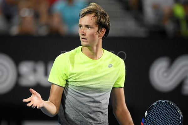 Daniil Medvedev of Russia gestures during the men's final match against Alex de Minaur of Australia at the Sydney International Tennis Tournament at Sydney Olympic Park Tennis Centre in Sydney, Australia. EFE