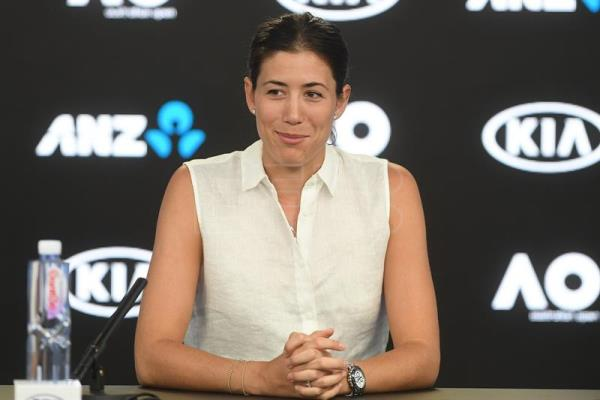 Garbine Muguruza of Spain speaks to the media at a press conference ahead of the Australian Open tennis tournament at Melbourne Park in Melbourne, Victoria, Australia, 13 January 2018. (España, Abierto, Tenis) EFE