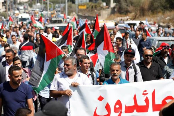 Palestinians hold rally ahead of PA president's speech at UN
