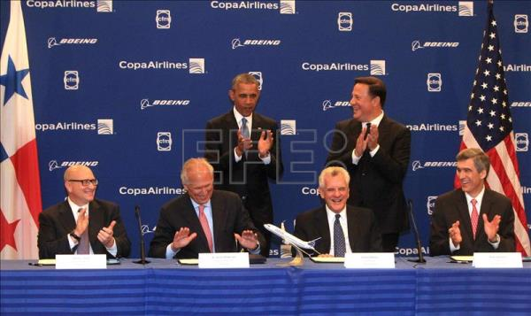 U.S., Panama presidents witness signing of $6.6 bn Copa-Boeing deal