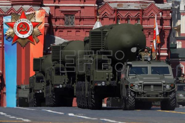 New-generation Russian strategic missiles Yars take part in the Victory Day military parade in the Red Square in Moscow, Russia, May 9, 2018. EPA-EFE/SERGEI ILNITSKY
