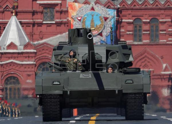 A Russian Armata tank takes part in the Victory Day military parade in the Red Square in Moscow, Russia, May 9, 2018. EPA-EFE/SERGEI ILNITSKY