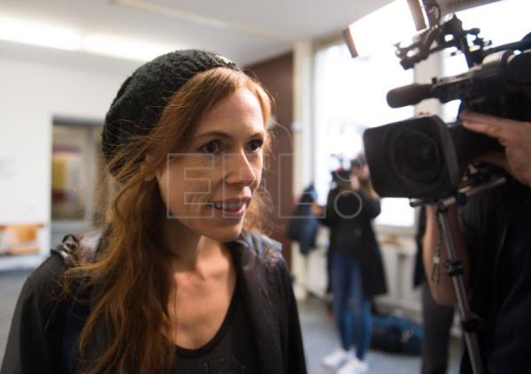 Actor Antje Nikola Monning Arrives At The District Court In Kaufbeuren Germany Dec