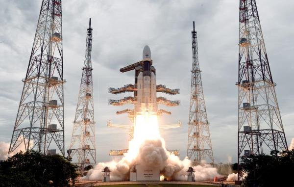 India's second lunar mission takes off with 'billion dreams to the Moon'
