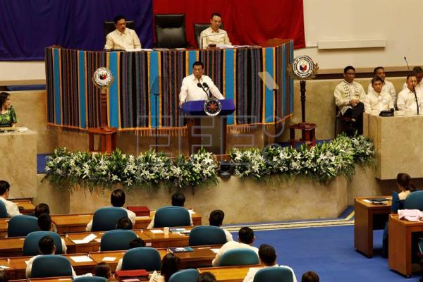 Philippine President Rodrigo Duterte delivers State of the Nation Address