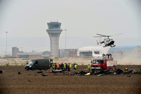 Pilot dies after Spanish Air Force F-18 jet crashes at Madrid