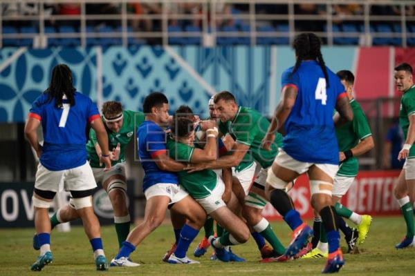 Ireland eases past Samoa at Rugby World Cup, provisionally tops group