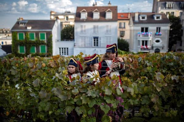 Harvest festival in Montmartre in Paris
