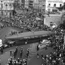 "EFE historic archive image dated Nov.10, 1991, released Mar 6, 2019, shows the farewell given by Cartagena's (Spain) citizens to Isaac Peral's submarine departing from its site in Cartagena for storage. It was later restored in 2013 and currently stands at Cartagena's Naval Museum. The image is part of a visual collection of 33 historic EFE images of Spanish inventions and inventors within a Google Cultural Institute online exhibition giving an overall historical vision of humanity's inventiveness titled ""Once Upon a Try."" EFE-EPA/archive/SAGA"