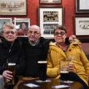 (L-R) Ethel Dodds, Stan Bestford (61) and Katherine Laws (53) at the Colliery Tavern in Sunderland, Britain, 13 February 2019. EPA-EFE/ANDY RAIN