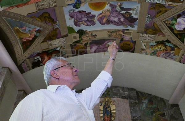 Mexican Artist Copies Michelangelo S Sistine Chapel Frescos In Humble Church Entertainment English Edition Agencia Efe