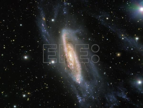 Handout image provided by the European Southern Observatory showing the spiral galaxy NGC 3981 captured by the instrument FORS2 mounted on the Very Large Telescope in Paranal, Chile, Sept. 12, 2018. EPA-EFE/HANDOUT/ESO