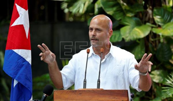 Gerardo Hernandez, one of the 'Cuban Five', speaks during event to mark the 20th anniversary of their arrest, Havana, Cuba, Sept. 12, 2018. EPA-EFE/Ernesto Mastrascusa