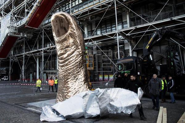 france s pompidou center gives césar a thumbs up with special
