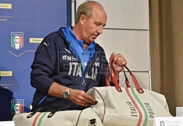 Italy's national soccer team coach Gian Piero Ventura during a press conference at Coverciano Sports Center near Florence, Italy, Oct. 2, 2017. EPA-EFE/MAURIZIO DEGL INNOCENTI