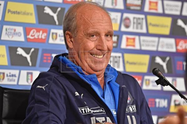 Italy's national soccer team coach Gian Piero Ventura speaks during a press conference at Coverciano Sports Center near Florence, Italy, Oct. 2, 2017. EPA-EFE/MAURIZIO DEGL INNOCENTI