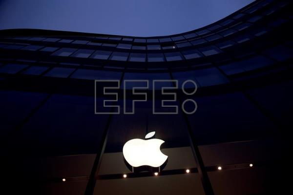 El logo de la sede de Apple en California. EFE/Archivo