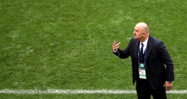 Head coach of Russia, Stanislav Cherchesov, reacts during the FIFA World Cup 2018 group A preliminary round soccer match between Russia and Saudi Arabia in Moscow, Russia, 14 June 2018. EFE