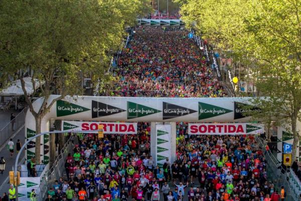Runners at the start of the Cursa El Corte Ingles 2017 run in Barcelona, Spain, Apr. 2, 2017. Barcelona's biggest 10 km run counted with the participation of some 58,000 people. EPA/FILE/Quique Garcia