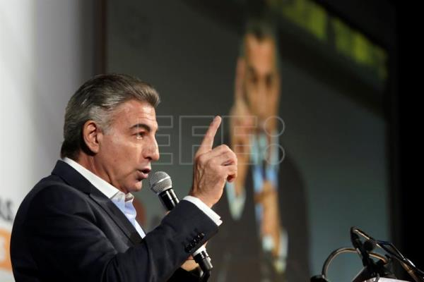 Photograph showing Puebla state Governor Antonio Gali during the inauguration of the 2018 Smart City Expo Latam Congress in Puebla, Mexico, Sept 11, 2018. EPA-EFE/Hilda Rios