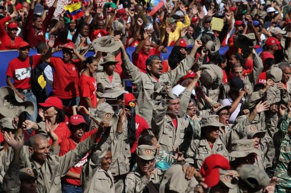 Thousands of Venezuelans march in support of Maduro after failed attack