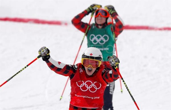 Image result for women's ski cross final pyeongchang