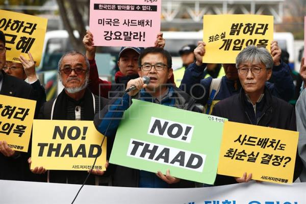 South Korean groups plan protests to halt US-built THAAD deployment