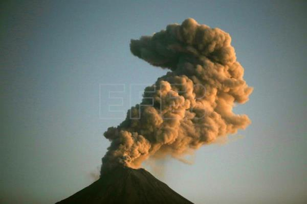 Mexico's Colima volcano sends ash plume high into sky